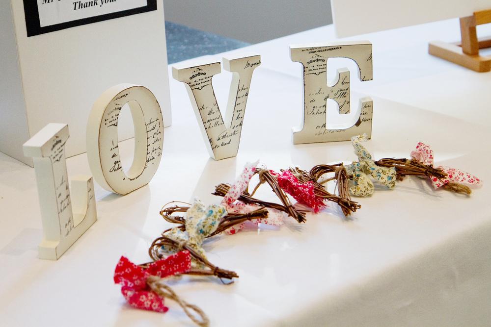 Love letters, Wedding Decor, Helen England Photography, Kent, U.K