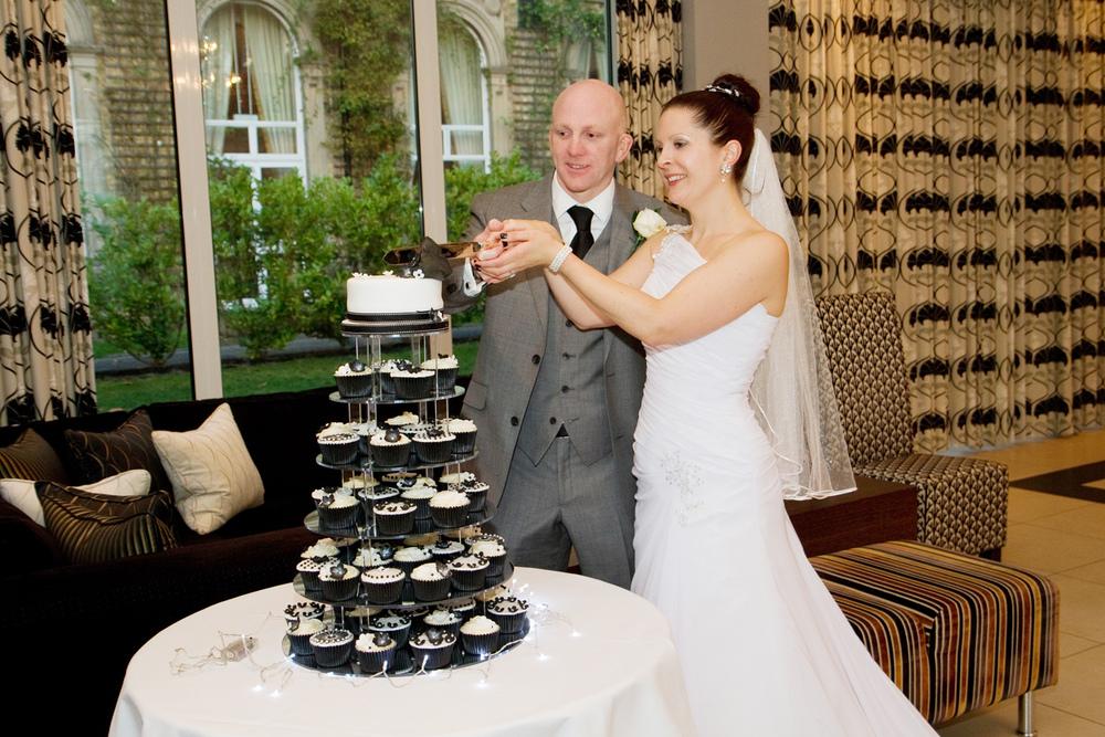Black & White Wedding Cupcakes, Helen England Photography, Kent, U.K