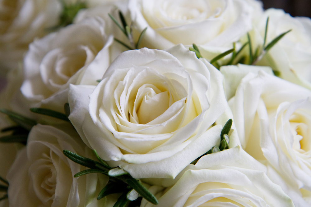 White Rose Wedding Bouquet, Helen England Photography, Kent, U.K