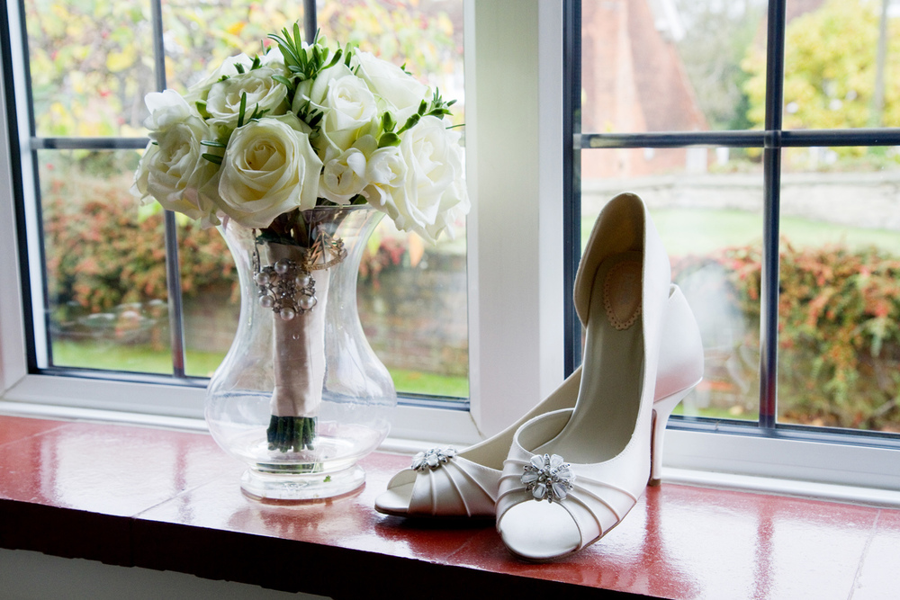 Wedding Shoes & Flowers, Helen England Photography, Kent, U.K