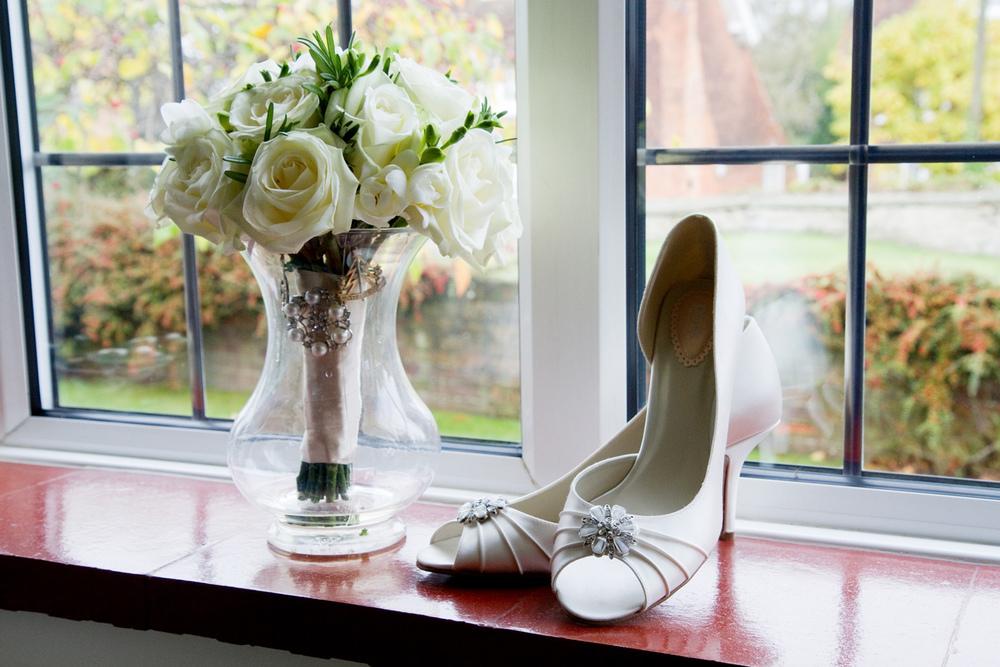 Wedding Shoes & Flowers, Helen England Photography, Kent, U.K