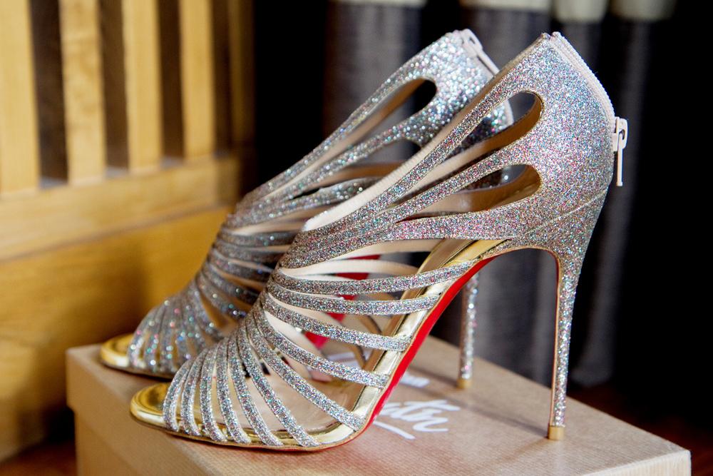 Glittery Wedding Shoes, Helen England Photography, Kent, U.K