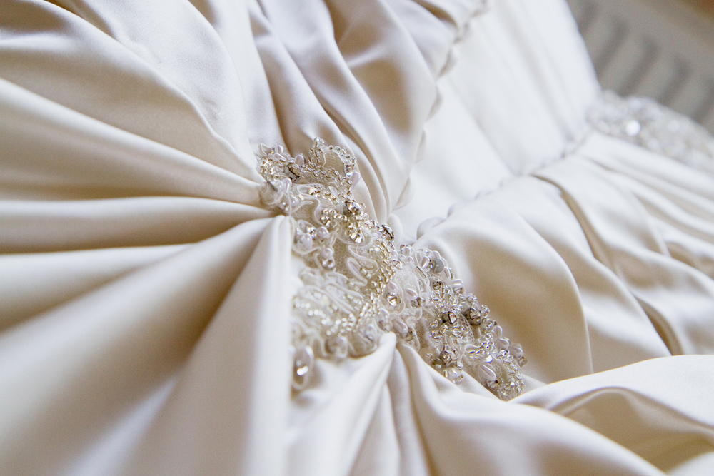 Ivory Wedding Dress Detail, Helen England Photography, Kent, U.K