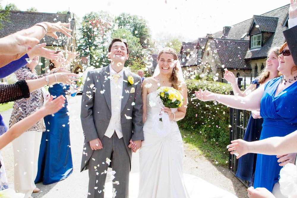 Confetti, Helen England Photography, Kent, U.K