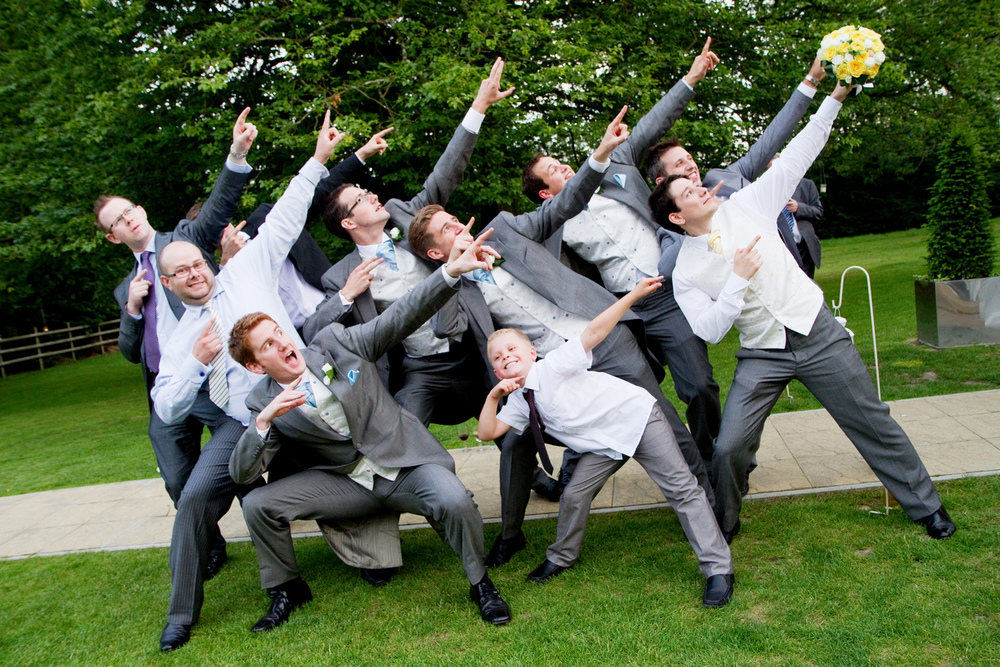 Fun Groomsman Photography, Helen England Photography, Kent, U.K