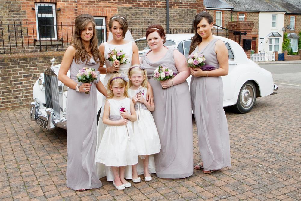 Grey Bridesmaids Dresses, Helen England Photography, Kent, U.K