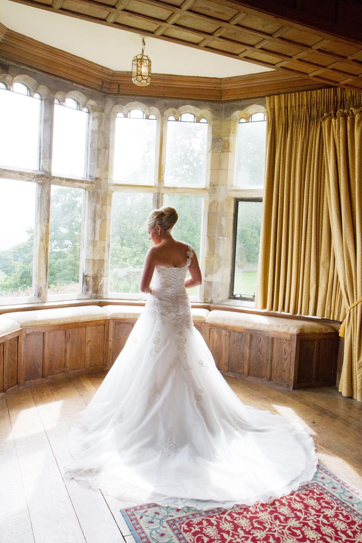 Lympne Castle Wedding Venue, Brides Dress, Helen England Photography, Kent, U.K