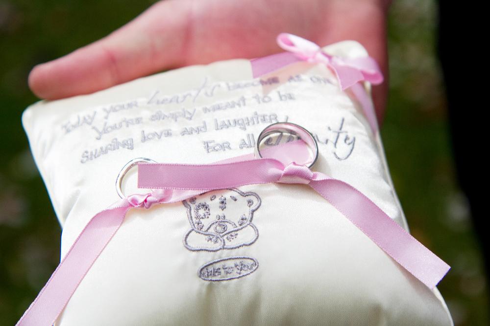 Wedding Ring Cushion, Helen England Photography, Kent, U.K