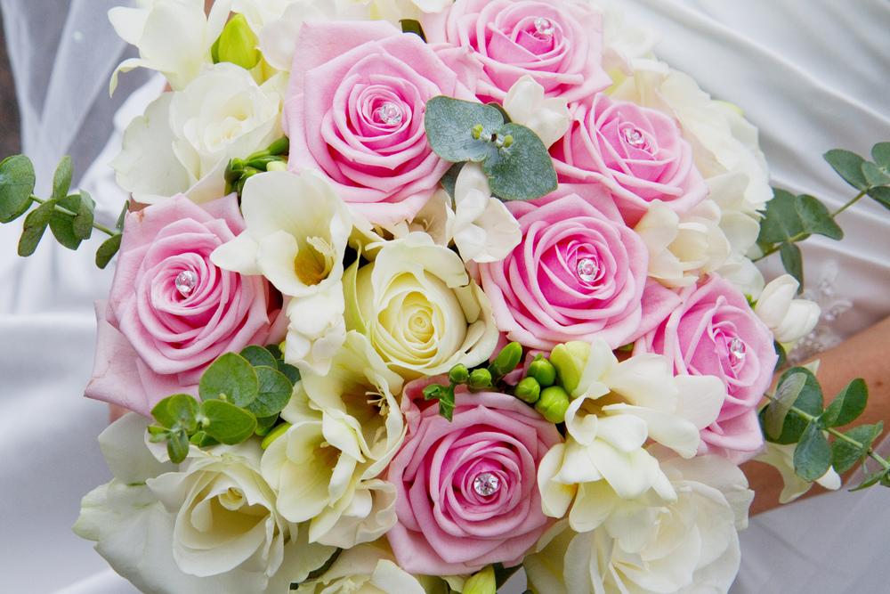 Pink & White Bridal Bouquet, Helen England Photography, Kent, U.K