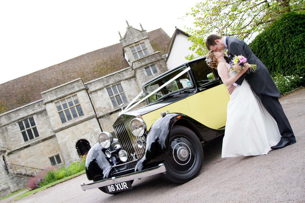 Yellow Rolls Royce Wedding Car, Helen England Photography, Kent, U.K