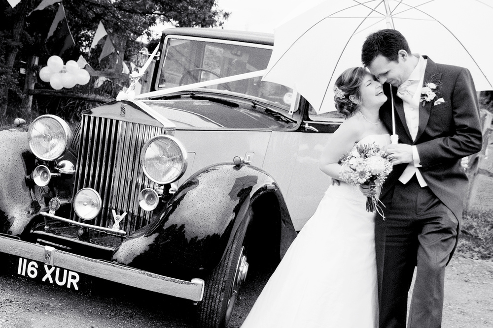 Wet Wedding, Rolls, Royce, Helen England Photography, Kent, U.K