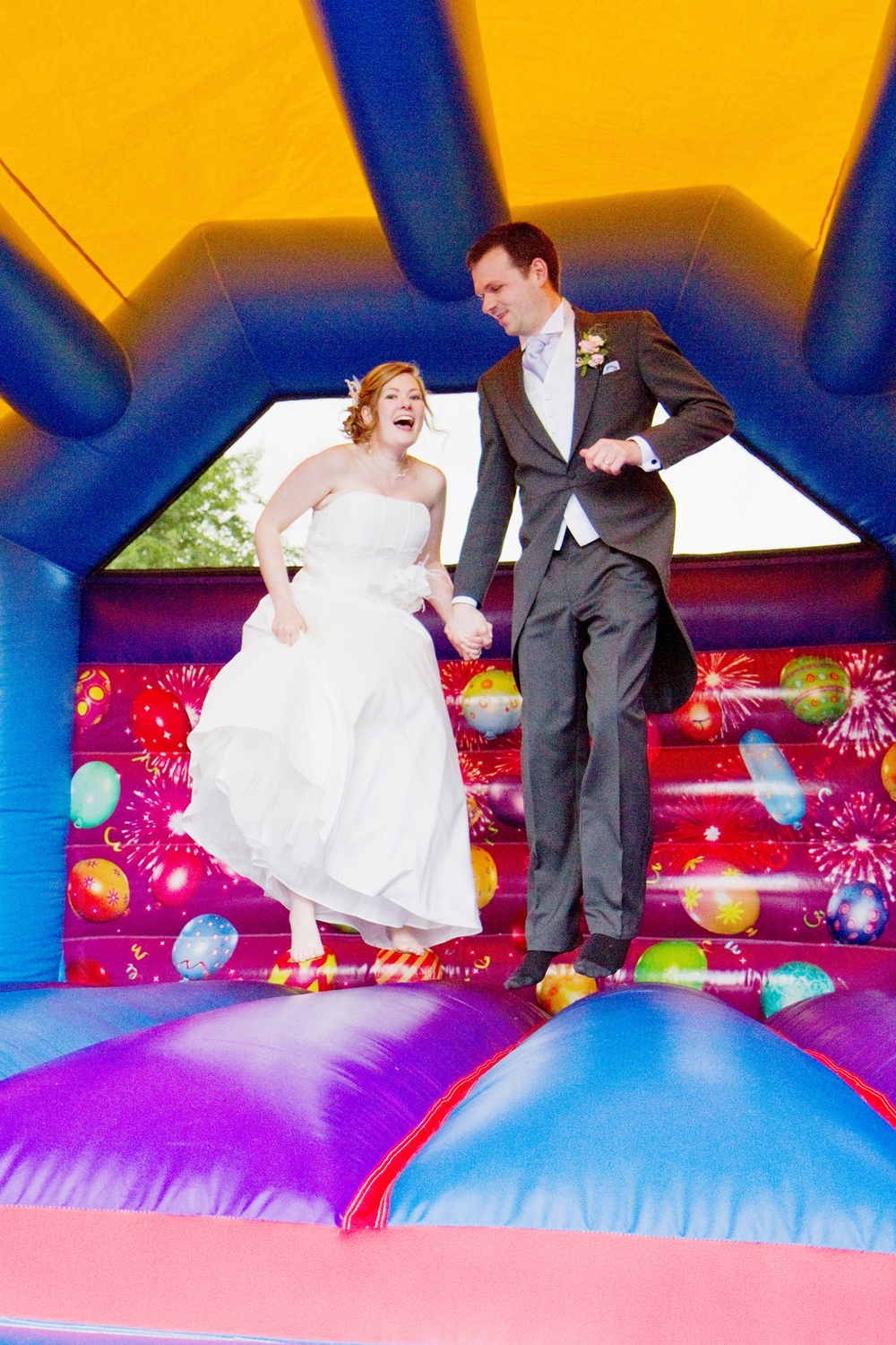Wedding Bouncy Castle, Helen England Photography, Kent, U.K