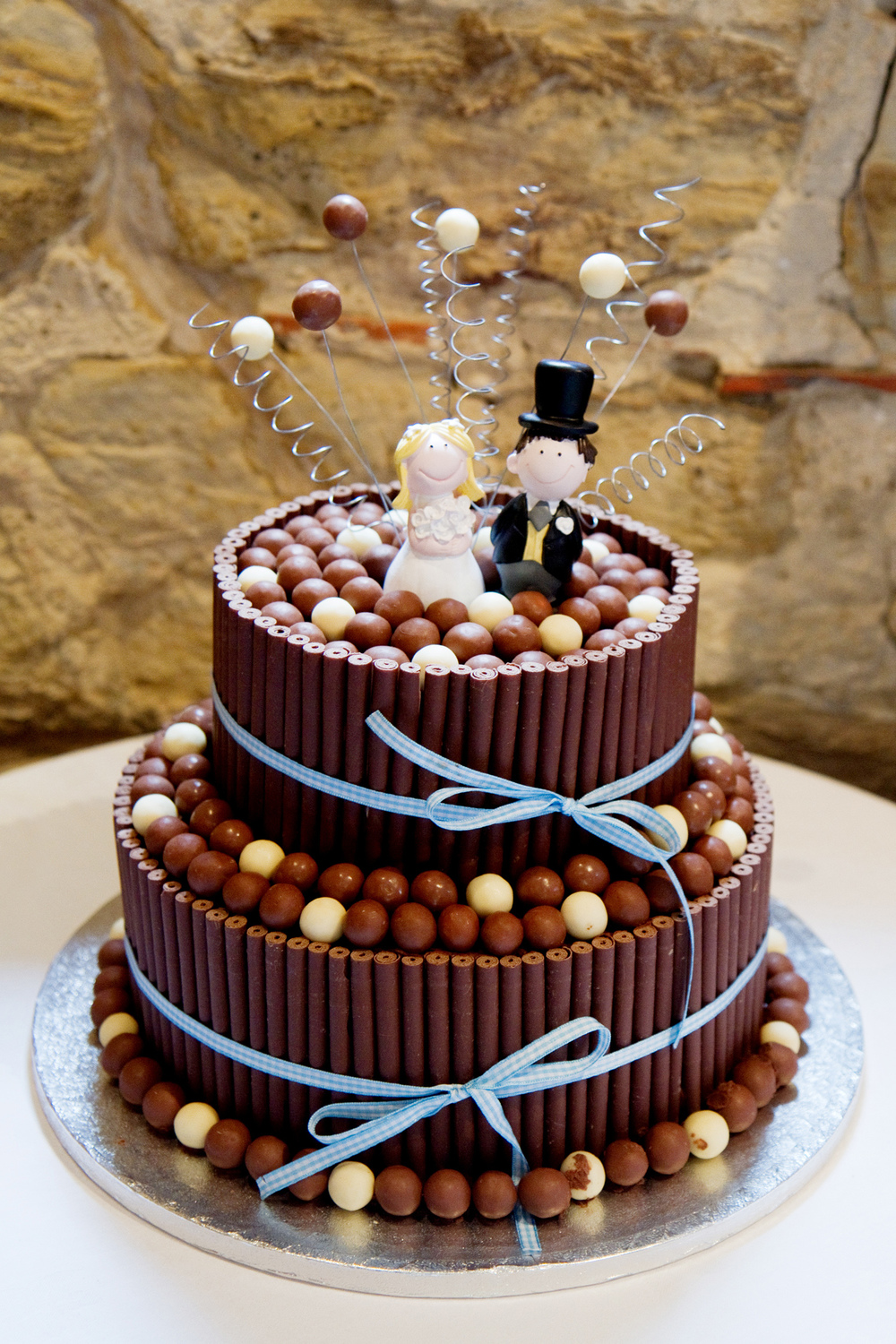 Revel Chocolate Wedding Cake, Helen England Photography, Kent, U.K