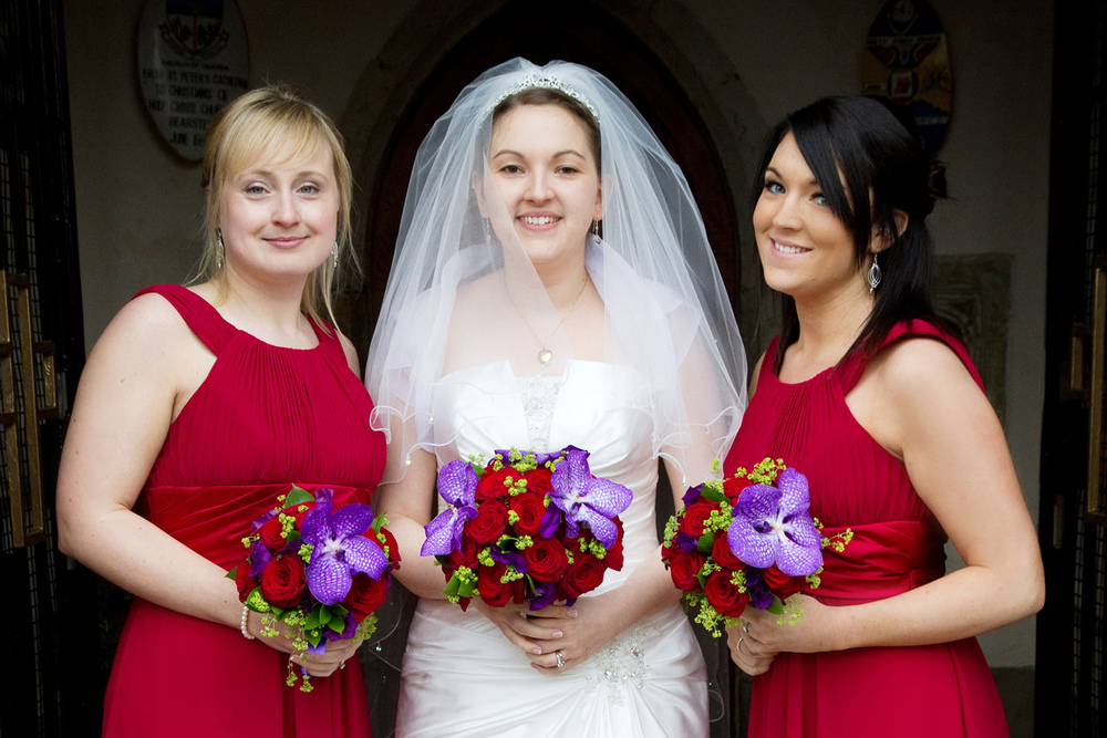 Red Bridesmaid Dresses, Helen England Photography, Kent, U.K