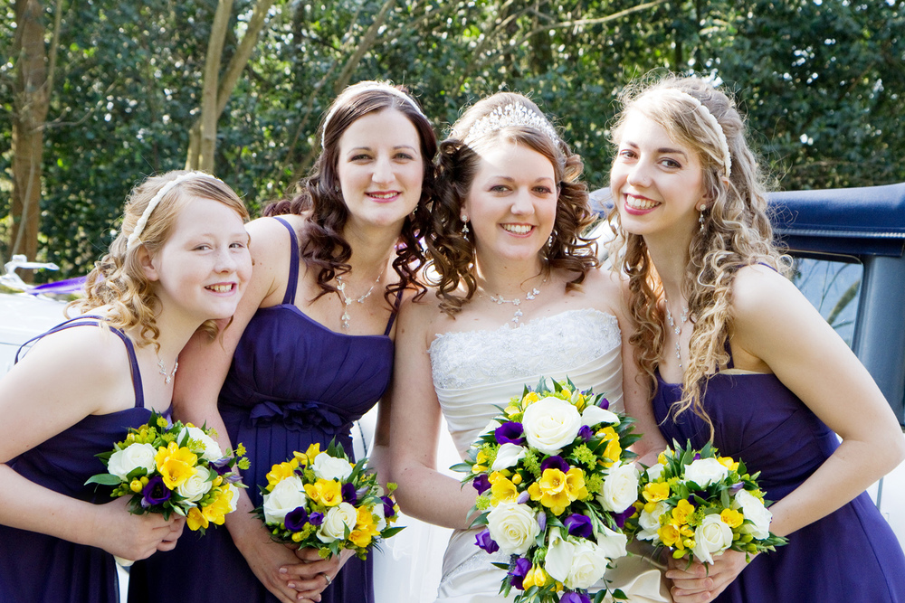 Purple Bridesmaid Dresses, Helen England Photography, Kent, U.K