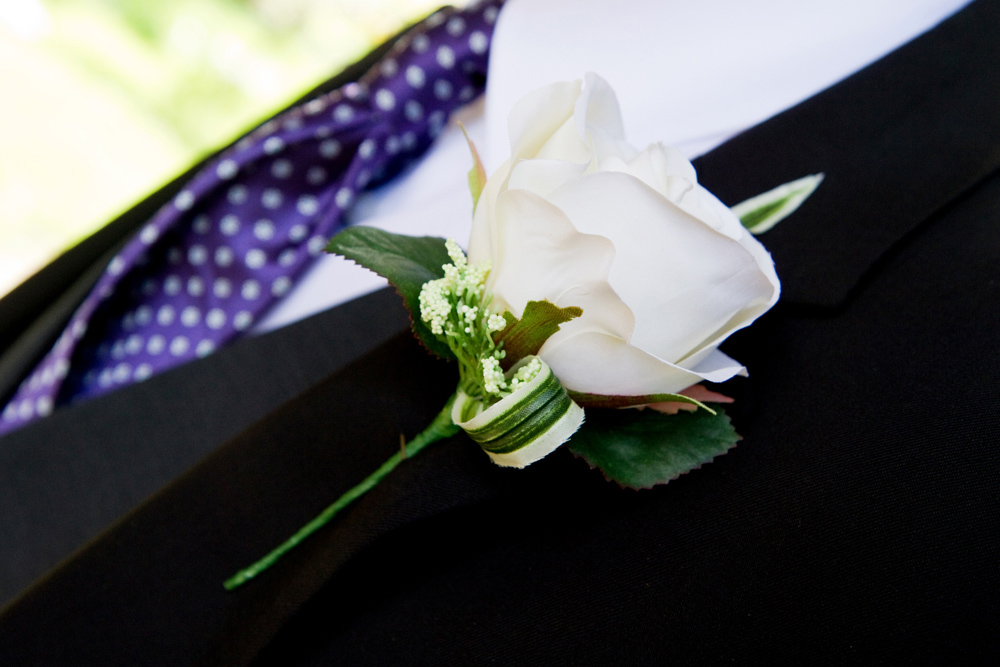 White Rose Buttonhole, Helen England Photography, Kent, U.K