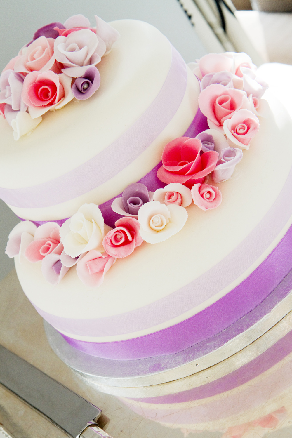 Pastel Flowers Wedding Cake, Helen England Photography, Kent, U.K