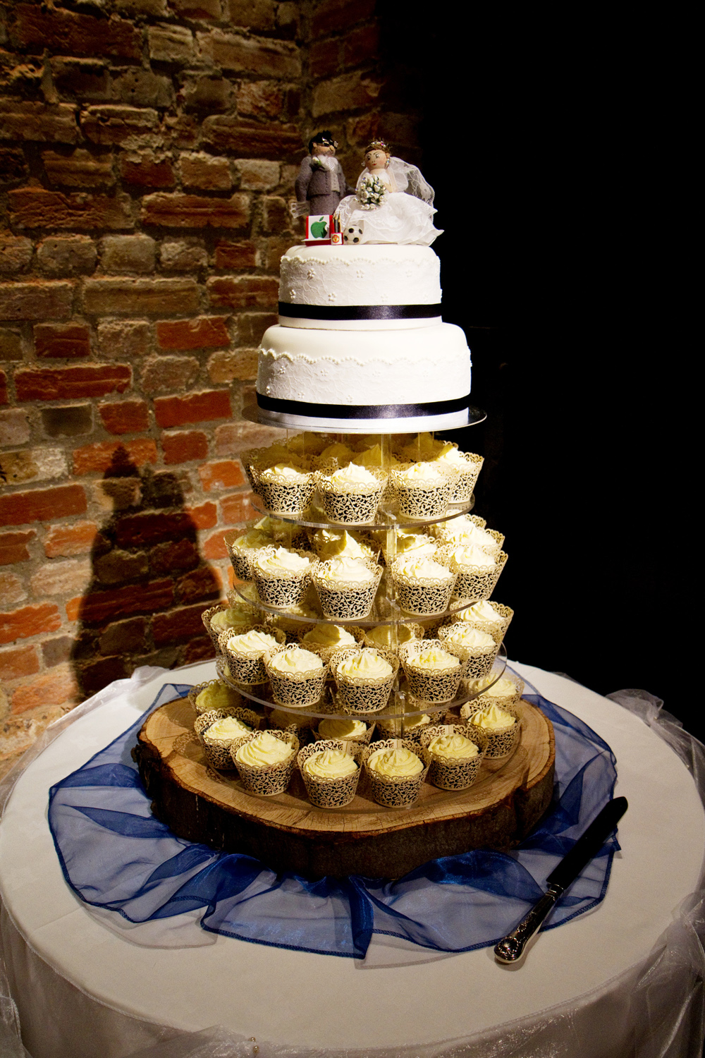 Cupcake Tiered Wedding Cake, Helen England Photography, Kent, U.K