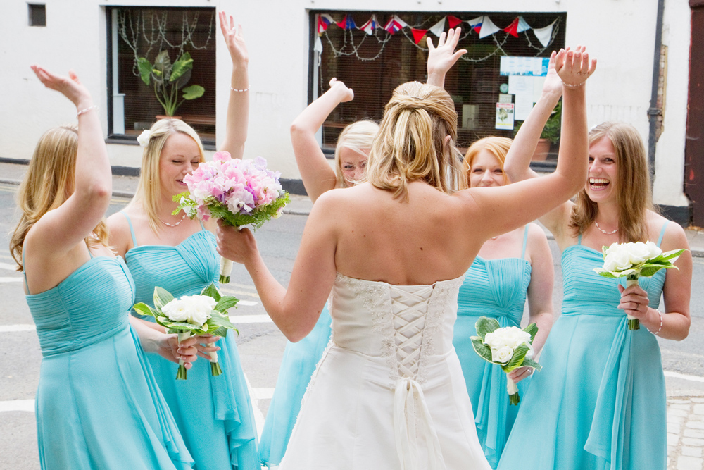 Aqua Bridesmaid Dresses, Helen England Photography, Kent, U.K