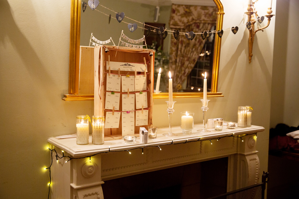 wedding decor - winter wedding at Hoath House by Helen England Photography, Kent