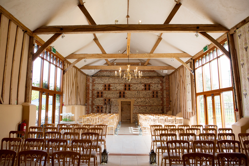 wedding ceremony, winter wedding at Upwaltham Barns by Helen England Photography, Kent