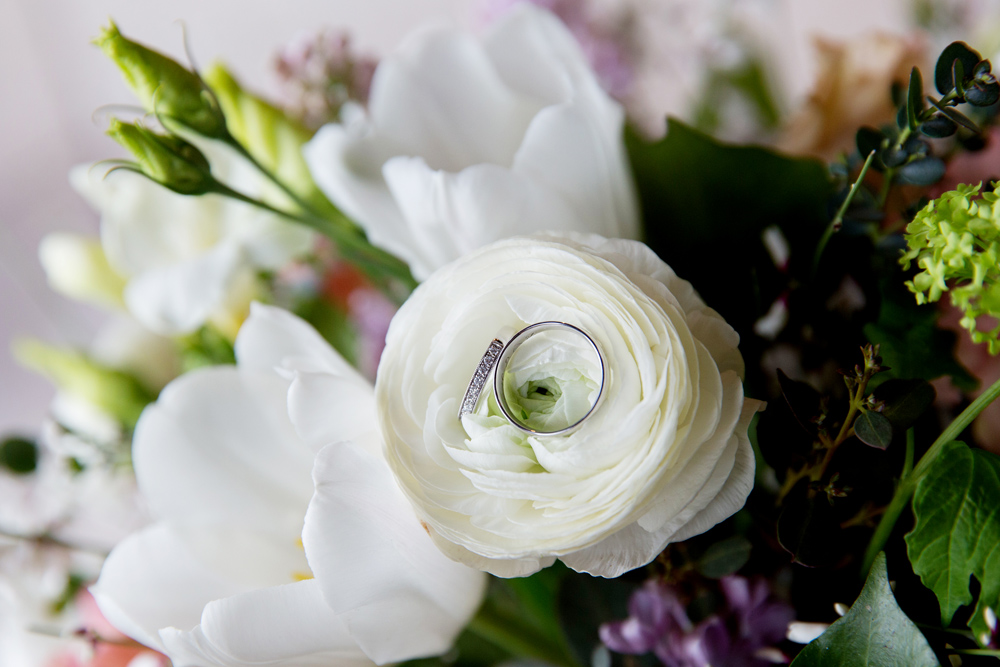wedding rings, winter wedding at Upwaltham Barns by Helen England Photography, Kent
