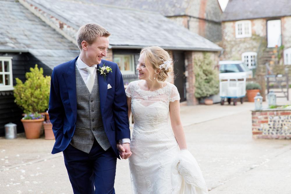 winter wedding at Upwaltham Barns by Helen England Photography, Kent