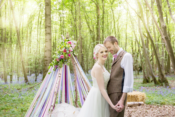 Enchanted Woodland Wonderland Bohemian Wedding Shoot at Oakwood Weddings, Kent, by Helen England Photography