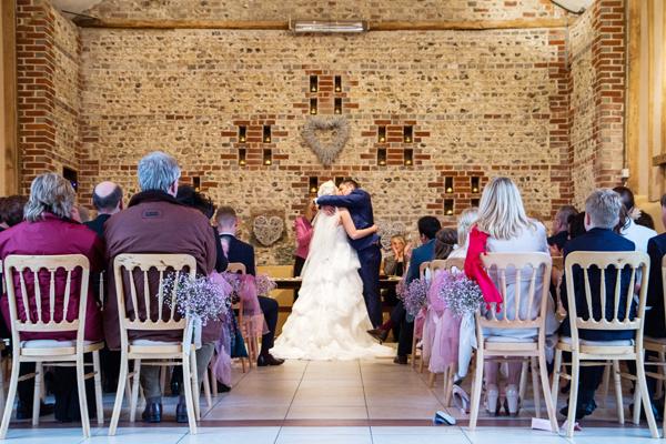 Upwaltham Barns Wedding Venue, Ceremony, Helen England Photography, Kent, U.K