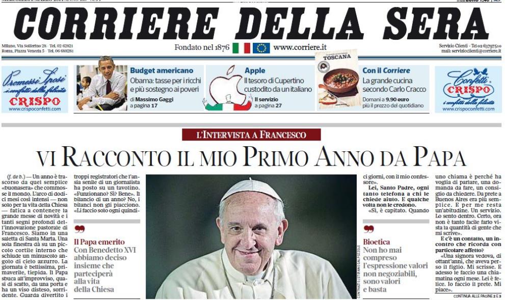 Italy 39 s corriere della sera reviews connectography parag for Corriere della sera arredamento