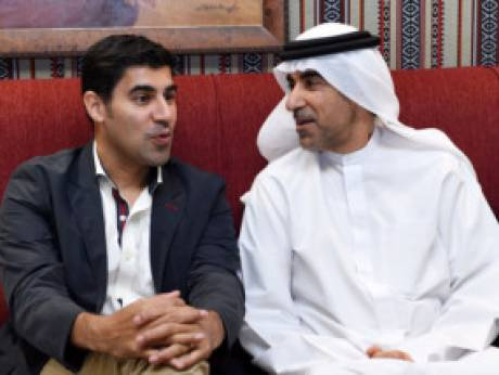 Bestselling author and global strategist Parag Khanna (left) with Dr Hanif Hassan at the latter's private majlis.