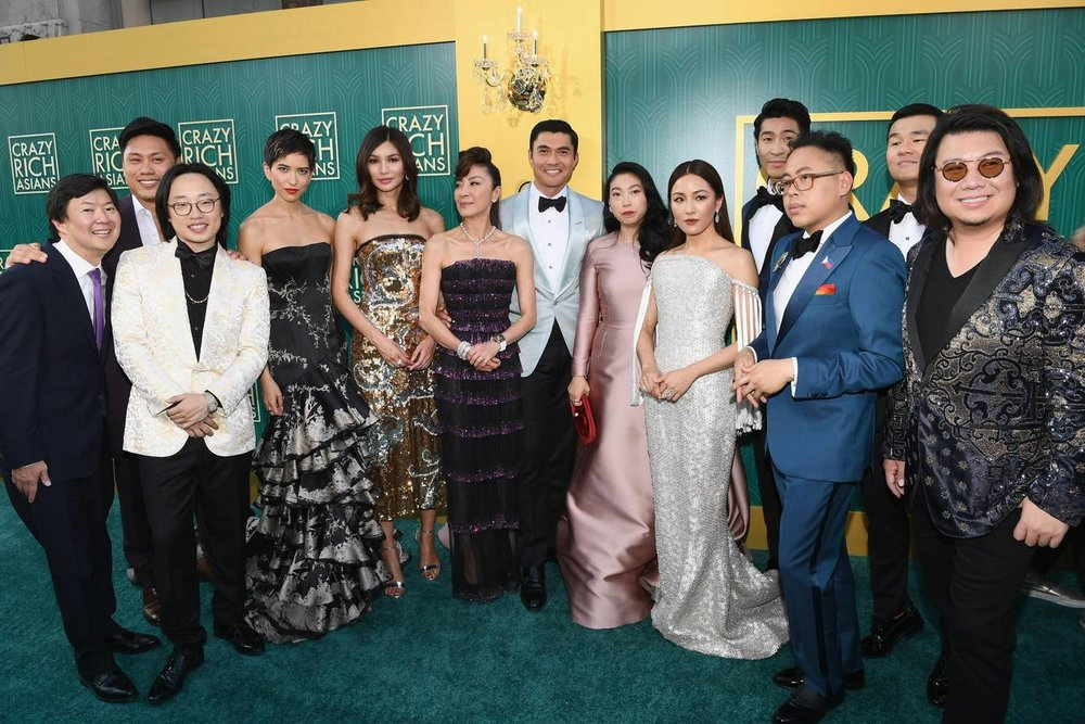 """The cast of """"Crazy Rich Asians"""" at the Premiere in Los Angeles (Getty Images)"""