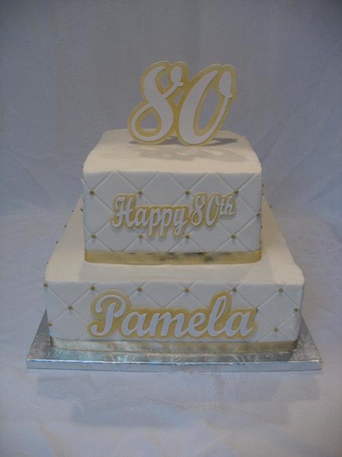 2 Tier 80th Birthday