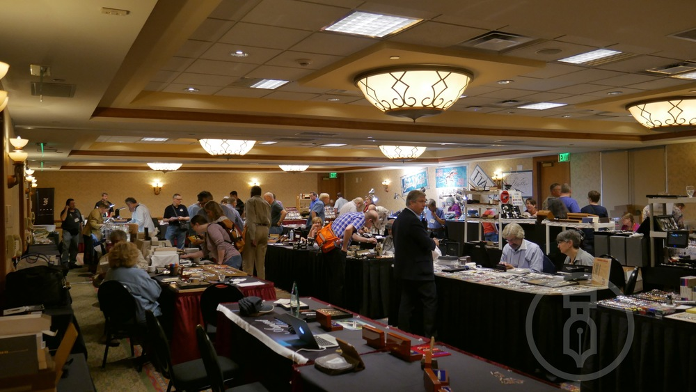 A very busy Saturday at the show.