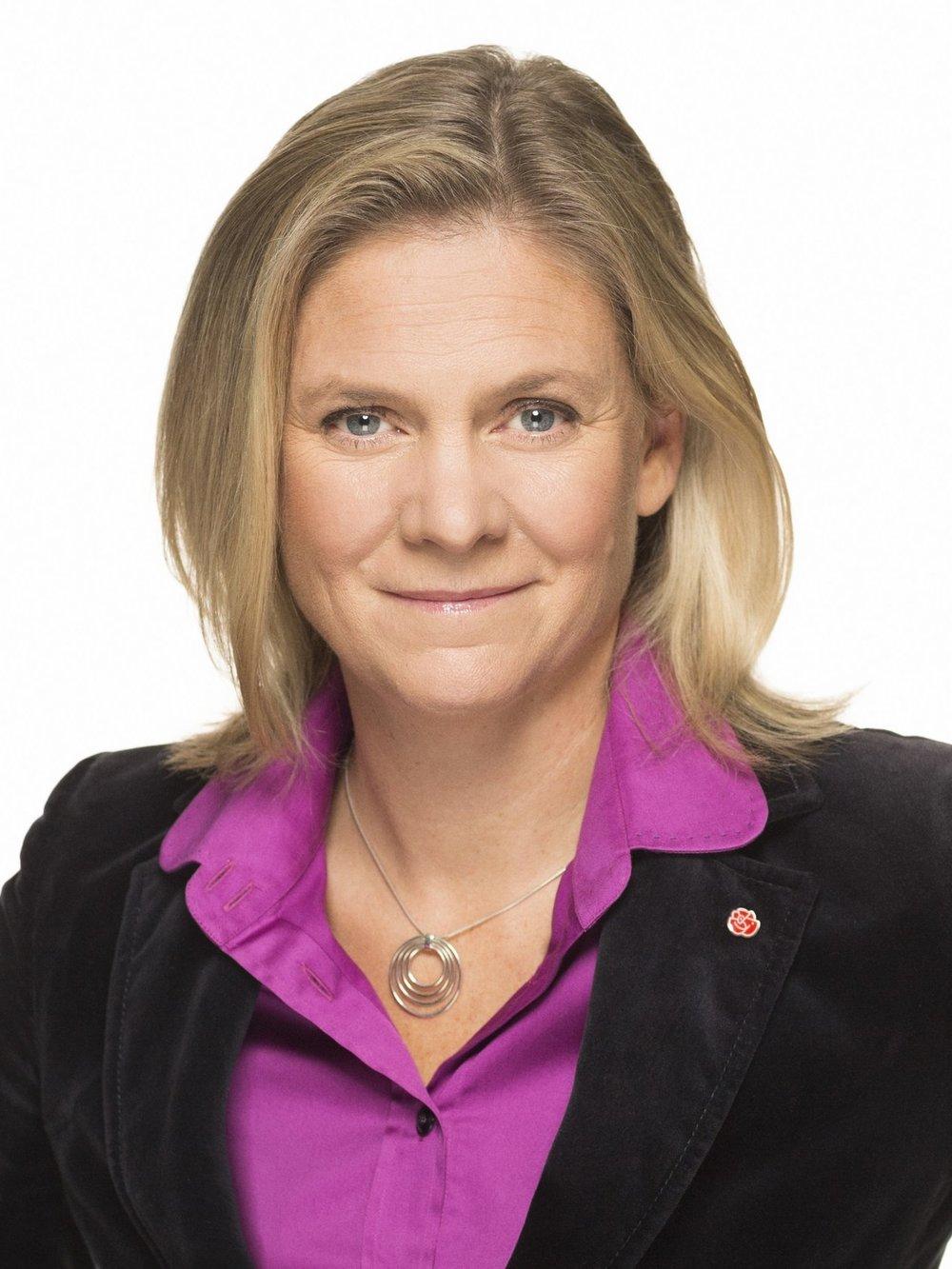 lördag 13:00 - 13.15 Magdalena Andersson   Finansminister  (Socialdemokraterna)