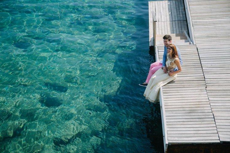 Bodrum düğün fotoğrafçısı farklı bir açıdan denizin güzelliğini de gösteren bir fotoğraf yakalıyor.