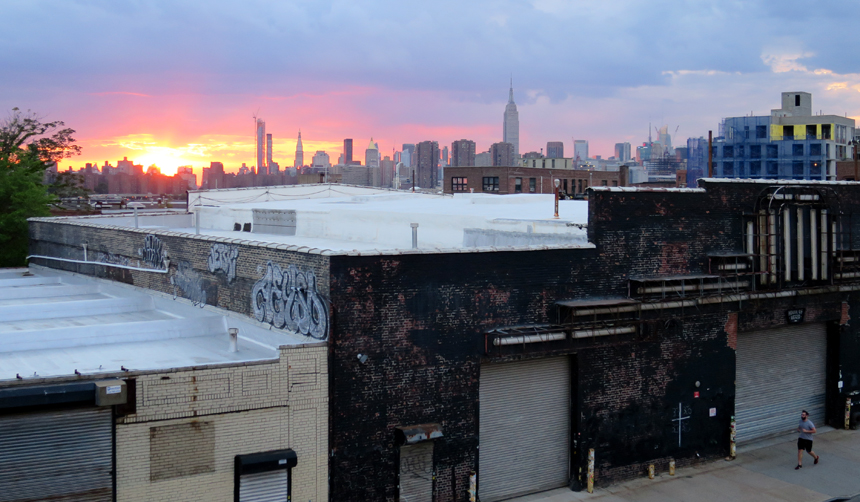 Elsewhere in Brooklyn - loved this shot of the sunset over Manhattan taken from the Northern Territory rooftop