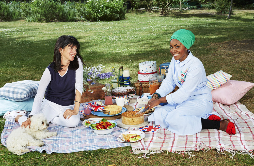 Nadiya Hussain and Emma Freud   Radio Times  Photo: Ellis Parrinder  Food Styling: Sue Henderson