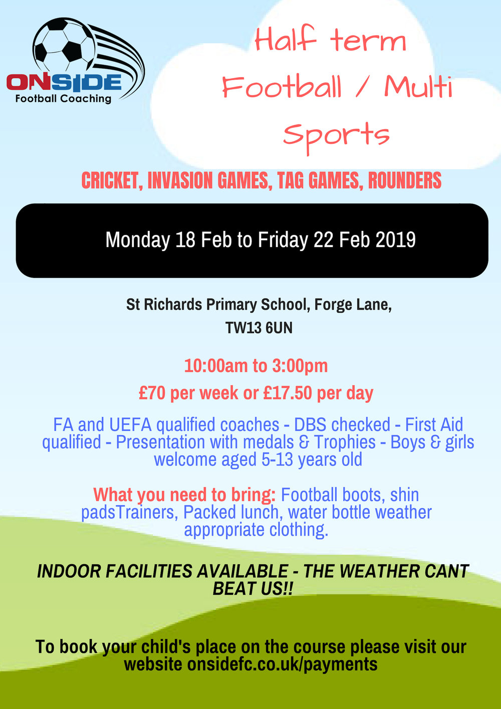 St Richards February 2019 half term flyer.jpg