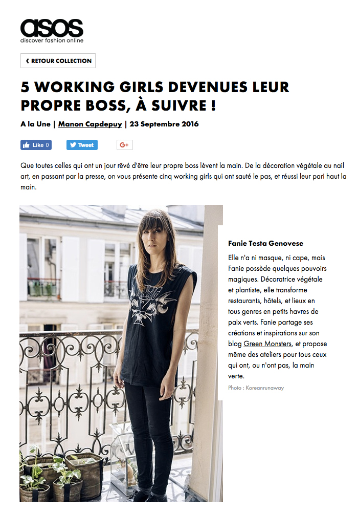 09/16. ASOS. 5 Working girls devenues leur propre boss, à suivre !