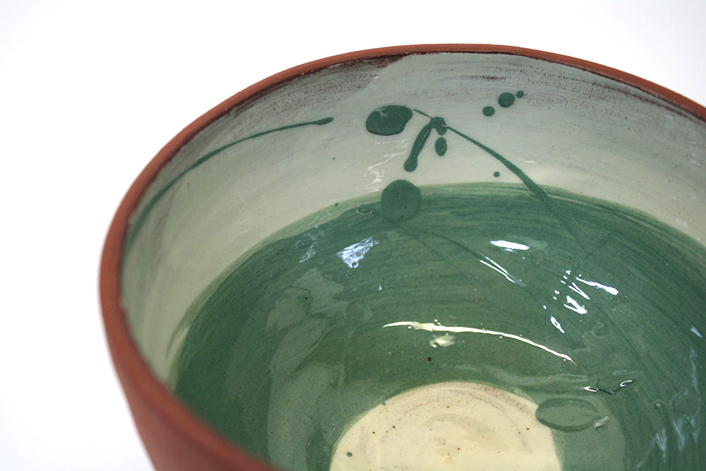 Jade Green Swoosh Bowl