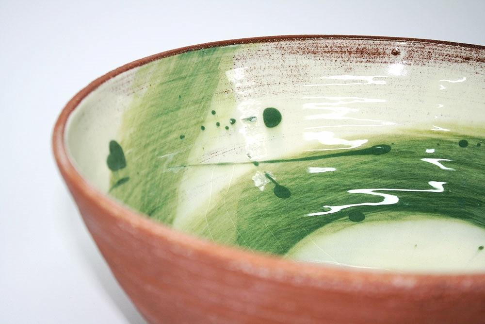 Juniper Green Swoosh Bowl