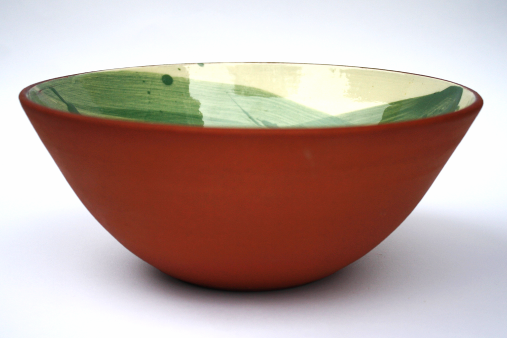 Medium size Juniper Green Swoosh bowl