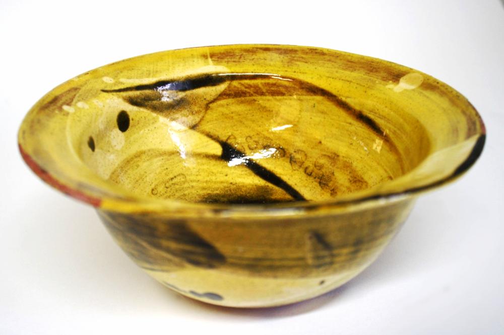 Honey Glazed Swoosh Bowl with lip