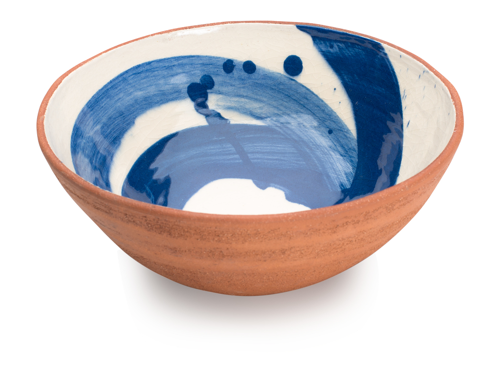 Cobalt Blue Swoosh Bowl