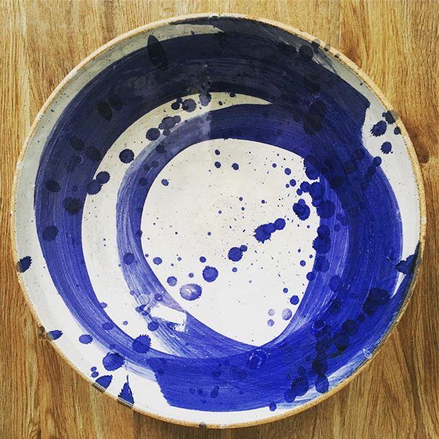 Sunday blues  #kilnload #blueswoosh #sallyjodesign #newbowls #swooshbowl #handmadeceramics