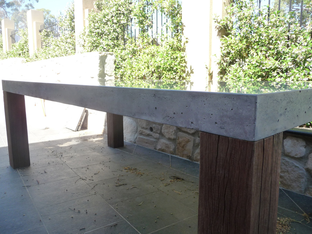 Outdoor Concrete Dining Table