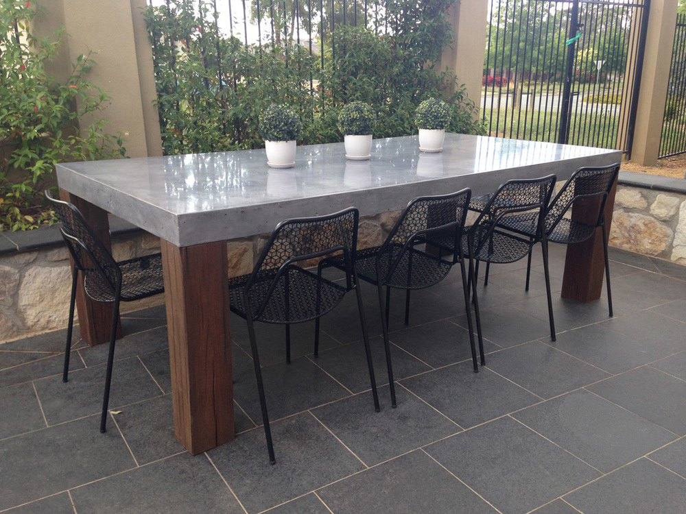 outdoor concrete dining table canberra