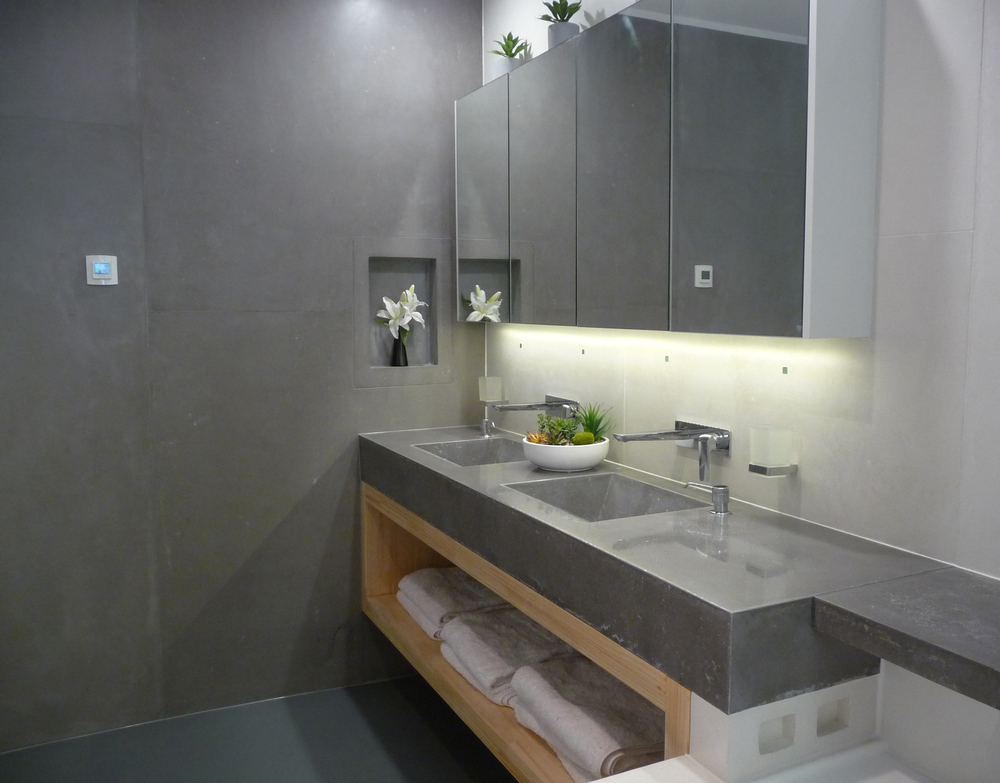 concrete bathroom vanities concrete benchtops canberra. Black Bedroom Furniture Sets. Home Design Ideas