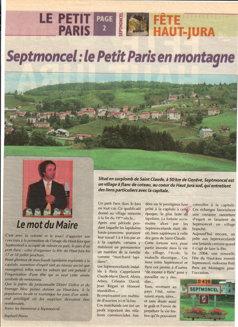 Septmoncel : le Petit Paris en montagne